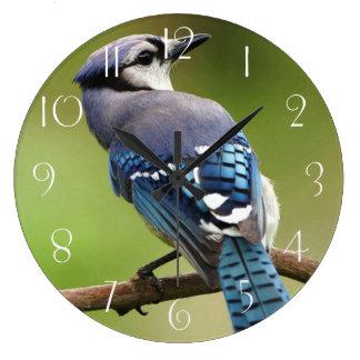 Blue jay large clock