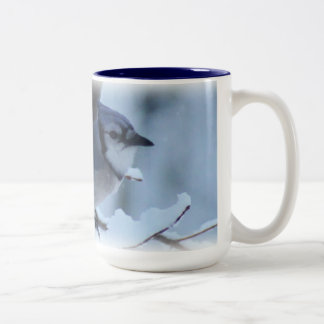 Blue Jay Large Mug- choose sizes & styles Two-Tone Mug