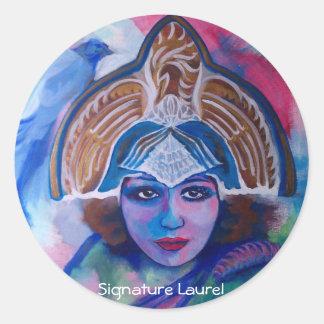 Blue Jay Priestess by Signature Laurel Classic Round Sticker