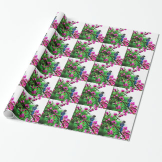 Blue Jay Tiled Wrapping Paper