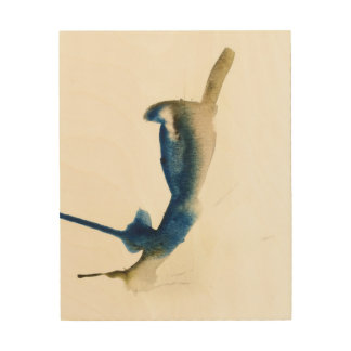 Blue Jay Watercolor Print by Oliver on Wood