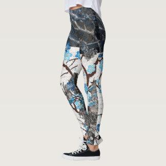 Blue Jay Winter Blossom Leggings