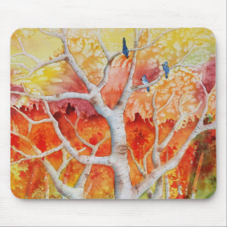 Blue jays in Autumn Mouse Pad