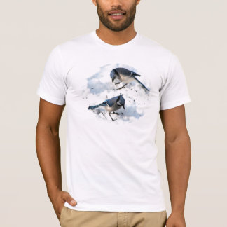 Blue Jays in Snow T-Shirt