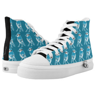 Blue Jays Pattern Teal Blue Shoes Printed Shoes