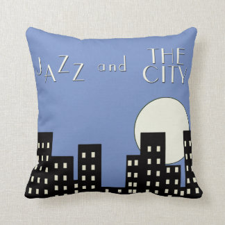 Blue Jazz and the City Cushion