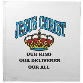blue jc king deliverer all napkin
