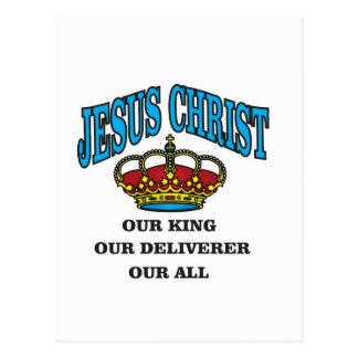 blue jc king deliverer all postcard
