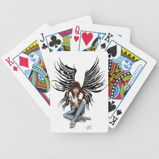 Blue Jean Angel Bicycle Playing Cards