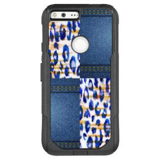 Blue Jean Animal Pattern Print OtterBox Commuter Google Pixel XL Case