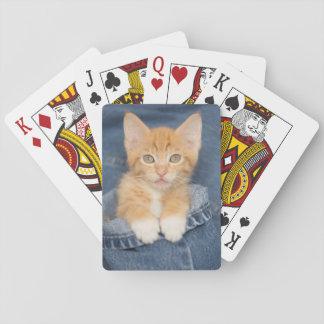 Blue Jean Baby Orange Kitten Playing Cards