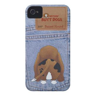 Blue Jean Basset Hound Butt iPhone 4 Case-Mate Case