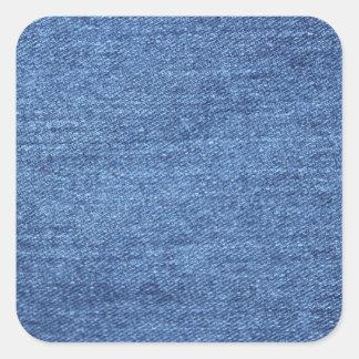 Blue Jean Denim Background Square Sticker