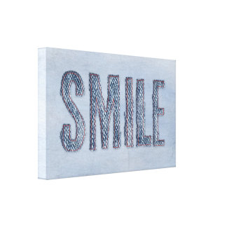 blue jean smile canvas print
