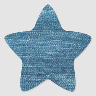 Blue jeans background star sticker