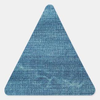 Blue jeans background triangle sticker