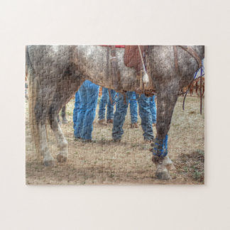 Blue Jeans, Boots and Spurs Jigsaw Puzzle
