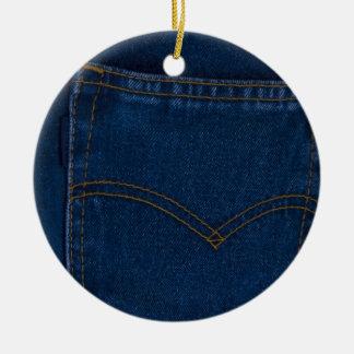 blue jeans ceramic ornament