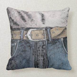 Blue jeans cushion