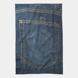 Blue Jeans Denim Pocket Tea Towel