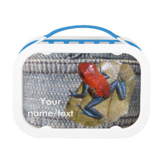 Blue Jeans Frog Customizable Lunchbox