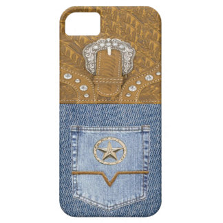 """Blue Jeans & Leather"" Western IPhone 5 Case"