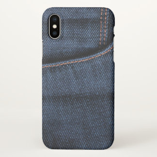 Blue Jeans Pocket iPhone X Case