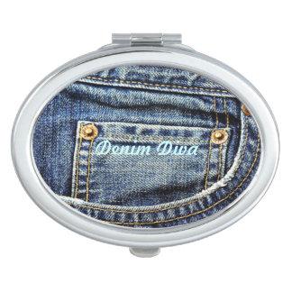 Blue Jeans Pocket Mirror For Makeup