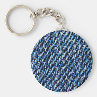 Blue jeans texture key ring
