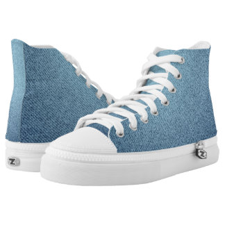 Blue jeans texture printed shoes