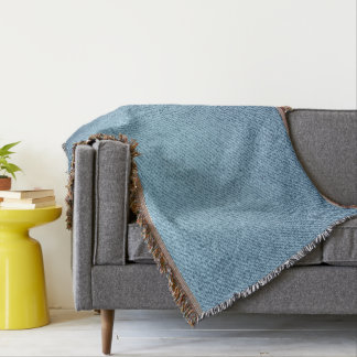 Blue jeans texture. Rough textile Throw Blanket
