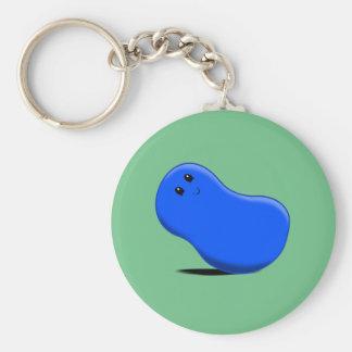 Blue Jellybean Keychain