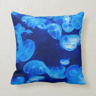 Blue jellyfish cushion