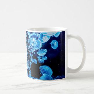 Blue Jellyfish Fractal Abstract Ocean Life Sea Coffee Mug