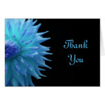 Blue Jennie On Black Thank You Note Card
