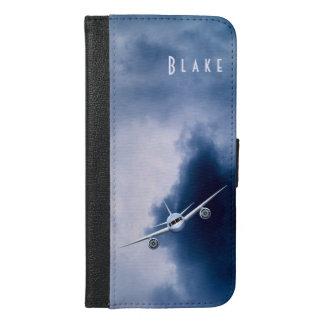 Blue Jet Plane in Sky Pilot iPhone 6 6S Plus Folio