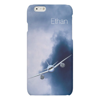 Blue Jet Plane in Sky Pilot Matte iPhone 6 Cases