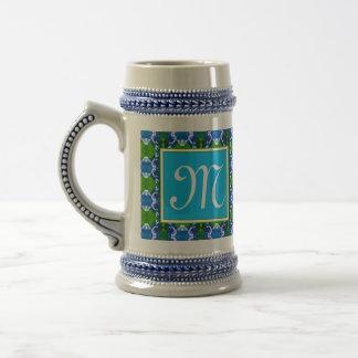 Blue Jewel Pattern Beer Steins