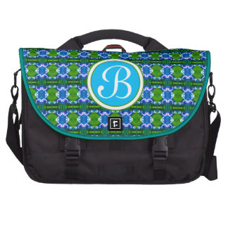 Blue Jewel Pattern Laptop Computer Bag