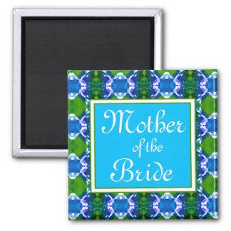 Blue Jewel Pattern Wedding Magnet