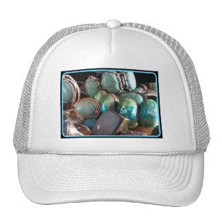 BLUE JEWELS PRINT TRUCKER HATS