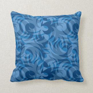 Blue Jive Curvy Design Throw Cushion