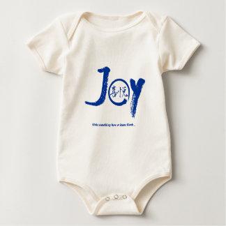 "Blue joy kanji inside enso zen circle ""Joy"" Baby Bodysuit"
