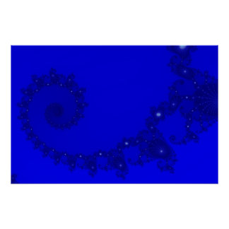 Blue Julia Spiral Poster