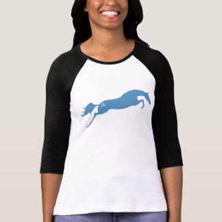 Blue Jumping Horse T-Shirt