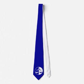 Blue Justice Scales Tie