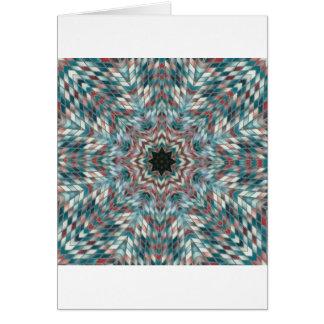 Blue kaleidoscope card