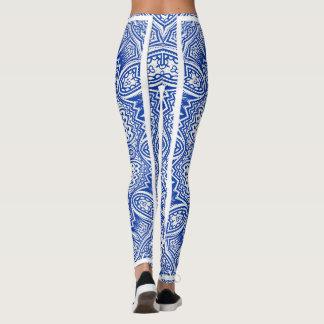 Blue Kaleidoscope Leggings