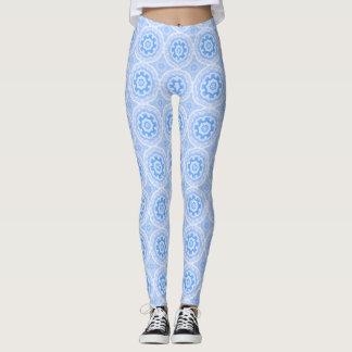 Blue Kaleidoscope Pattern Leggings