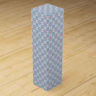 Blue Kaleidoscope Pattern Wine Box